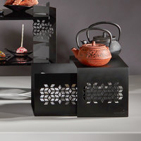 Rosseto SK054 Mosaic Black Matte Nesting Riser Set   - 2/Set