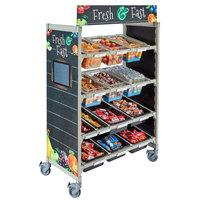 Cambro CSFLEXMERCH Camshelving® Flex Station Merchandiser Graphics - 48 inch x 23 inch x 75 3/4 inch