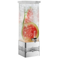 Rosseto LD168 Mosaic 2 Gallon Clear Acrylic Rectangle Beverage Dispenser with Stainless Steel Base