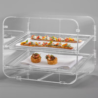 Rosseto BD145 Lucid Clear Acrylic Two-Tier Bakery Display Case - 18 inch x 15 inch x 15 inch
