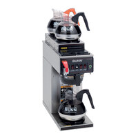 Bunn CWTF35-3 Automatic 12 Cup Coffee Brewer with 2 Upper and 1 Lower Warmer - Plastic Funnel 120/240V (Bunn 12950.0253)