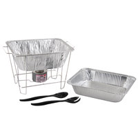 Choice Half Size Disposable Wire Chafer Stand Kit