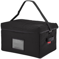 Cambro GBD181412110 Insulated Black Jumbo Delivery GoBag™ - 18 inch x 14 inch x 12 inch