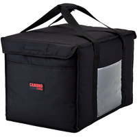 Cambro GBD211414110 Customizable Insulated Black Large Delivery GoBag™ - 21 inch x 14 inch x 14 inch
