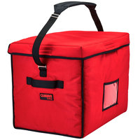 Cambro GBD211517521 Customizable Insulated Jumbo Red Stadium Delivery GoBag™ - 21 inch x 15 inch x 17 inch