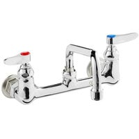 T&S B-0231 Wall Mounted Pantry Faucet with 8 inch Adjustable Centers, 12 inch Swing Nozzle, and Eterna Cartridges