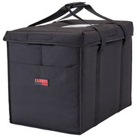 Cambro GBD211417110 Insulated Black Large Folding Delivery Bag GoBag™ - 21 inch x 14 inch x 17 inch