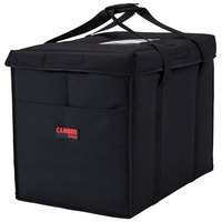 Cambro GBD211417110 Customizable Insulated Black Large Folding Delivery Bag GoBag™ - 21 inch x 14 inch x 17 inch