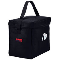 Cambro GBD13913110 Customizable Insulated Black Small Top Loading GoBag™ - 13 inch x 9 inch x 13 inch