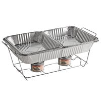 Choice Full Size Disposable Wire Chafer Stand Kit with Wick Fuel