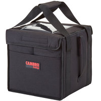 Cambro GBD101011110 Insulated Black Small Folding Delivery GoBag™ - 10 inch x 10 inch x 11 inch