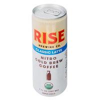 Rise Brewing Co. 7 oz. Classic Latte Nitro Cold Brew Coffee   - 12/Case