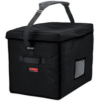 Cambro GBD211517110 Customizable Insulated Jumbo Black Stadium Delivery GoBag™ - 21 inch x 15 inch x 17 inch