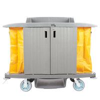 Lavex Lodging Hotel / Housekeeping Cart - Large Locking Three Shelf