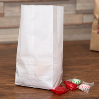 These Sy Duro 8 Lb White Paper Bags Are Perfect For Packaging Small Items Your Customers To Take Home