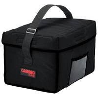 Cambro GBD13109110 Customizable Insulated Black Small Delivery GoBag™ - 13 inch x 10 inch x 9 inch