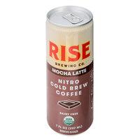 Rise Brewing Co. 7 fl. oz. Oat Milk Mocha Latte Nitro Cold Brew Coffee   - 12/Case