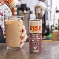 Rise Brewing Co. 7 oz. Mocha Latte Nitro Cold Brew Coffee - 12/Case