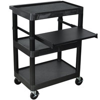 Luxor LT34 Laptop Presentation Cart with 3 Shelves 34 inch High