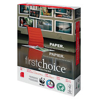 Domtar 85771 First Choice MultiUse 8 1/2 inch x 11 inch White 24# 3-Hole Punch Premium Paper - 500/Sheets