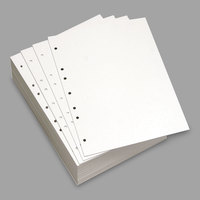 Domtar 851271 8 1/2 inch x 11 inch White Pack of 20# 7-Hole Punch Custom Cut-Sheet Copy Paper - 500 Sheets