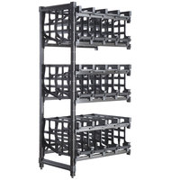 Cambro CPA243672C96480 Camshelving® Premium Full-Size Stationary Add-On #10 Can Rack Unit