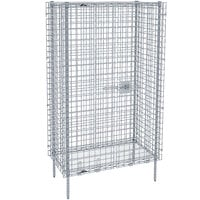 Metro SEC66S Stainless Steel Stationary Wire Security Cabinet 62 1/2 inch x 33 1/2 inch x 66 13/16 inch