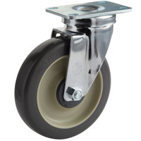 Cambro 60008 5 inch Swivel Plate Caster for Ultra Pan Carriers®, Ice Caddies, Dish Dollies, Camdollies®, Service Carts, Cambars®, Dish Caddies, and Utility Trucks