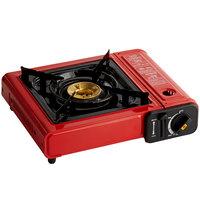 Choice Red 1-Burner High Performance Butane Countertop Range / Portable Stove with Brass Burner - 8,000 BTU