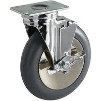 Cambro 60268 Swivel Plate Caster with Brake for Camtherm® Holding Cabinets