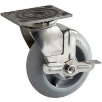 Cambro H14005 6 inch Swivel Plate Caster for Meal Delivery Carts