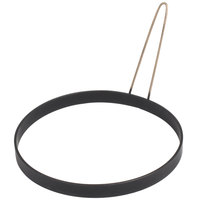 Prince Castle 127 8 inch Black Non-Stick Egg Omelet Ring with Handle
