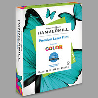 Hammermill 104646 8 1/2 inch x 11 inch Premium Laser White Ream of 32# Copy Paper - 500 Sheets
