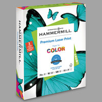 Hammermill 107681 8 1/2 inch x 11 inch Premium 3-Hole Punched Laser White Ream of 24# Copy Paper - 500/Sheets