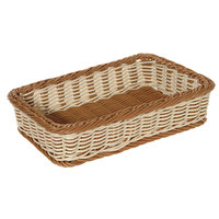 GET WB-1513-TT Designer Polyweave 17 1/2 inch x 11 1/2 inch x 3 3/4 inch Two-Tone Rectangular Plastic Basket - 6/Pack