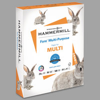 Hammermill 103283 Fore 8 1/2 inch x 11 inch White Case of 24# Multipurpose Copy Paper - 5000/Sheets
