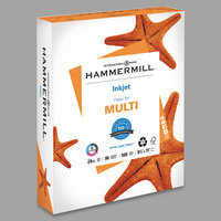 Hammermill 105050 8 1/2 inch x 11 inch White Case of 24# Recycled Inkjet Multipurpose Copy Paper - 500/Sheets