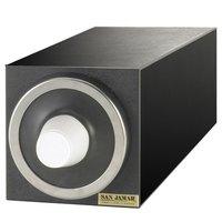 San Jamar C2901 EZ-Fit Black 1-Slot 8 - 46 oz. Cup Dispenser Cabinet with Metal Finish Trim Ring