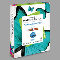 Hammermill 125534 8 1/2 inch x 11 inch Premium Laser White Ream of 28# Copy Paper - 500/Sheets