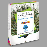 Hammermill 163110 8 1/2 inch x 11 inch Premium Laser White Ream of 32# Gloss Color Copy Paper - 300/Sheets