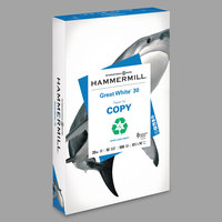 Hammermill 86704 Great White 8 1/2 inch x 14 inch White Ream of 20# 30% Recycled Copy Paper   - 500/Sheets