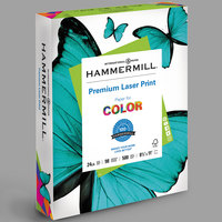 Hammermill 104604 8 1/2 inch x 11 inch Premium Laser White Ream of 24# Copy Paper - 500/Sheets