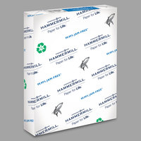 Hammermill 86780 Great White 8 1/2 inch x 11 inch White Case of 20# 50% Recycled Copy Paper   - 5000/Sheets
