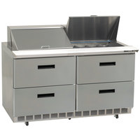 Delfield D4460N-12M 60 inch 4 Drawer Mega Top Refrigerated Sandwich Prep Table