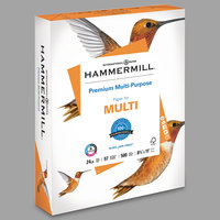 Hammermill 105810 8 1/2 inch x 11 inch White Case of 24# Premium Multipurpose Copy Paper - 2500/Sheets