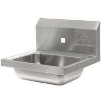 Advance Tabco 7-PS-71 Hand Sink with One Splash Hole - 15 1/4 inch x 17 1/4 inch