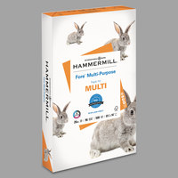 Hammermill 103291 Fore 8 1/2 inch x 14 inch White Ream of 20# Multipurpose Copy Paper - 500/Sheets