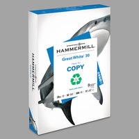 Hammermill 86750 Great White 11 inch x 17 inch White Ream of 20# 30% Recycled Copy Paper   - 500/Sheets