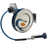 T&S B-7132-08M 35' Open Stainless Steel Hose Reel with B-0108 JeTSpray Spray Valve