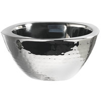 Carlisle 609211 3.5 Qt. Stainless Steel Hammered Square Insulated Bowl